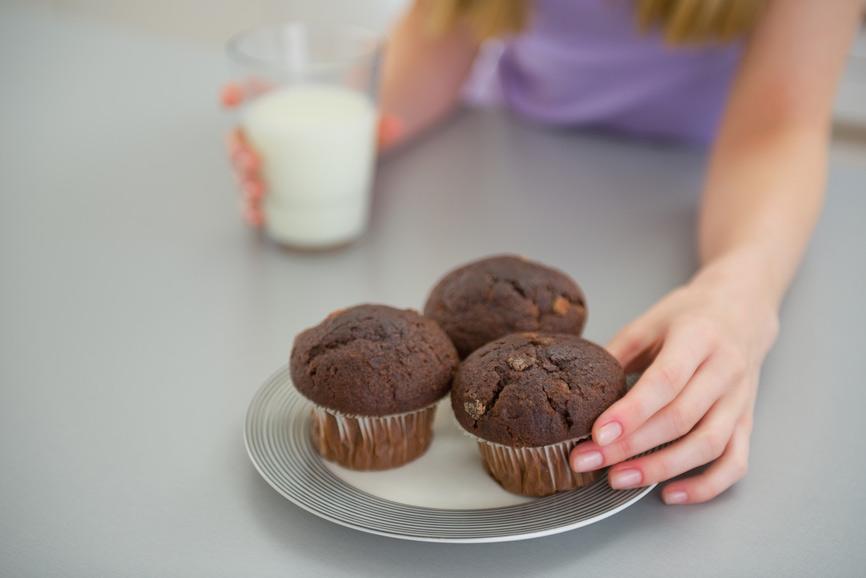 muffin al cioccolato: cibo con carboidrati