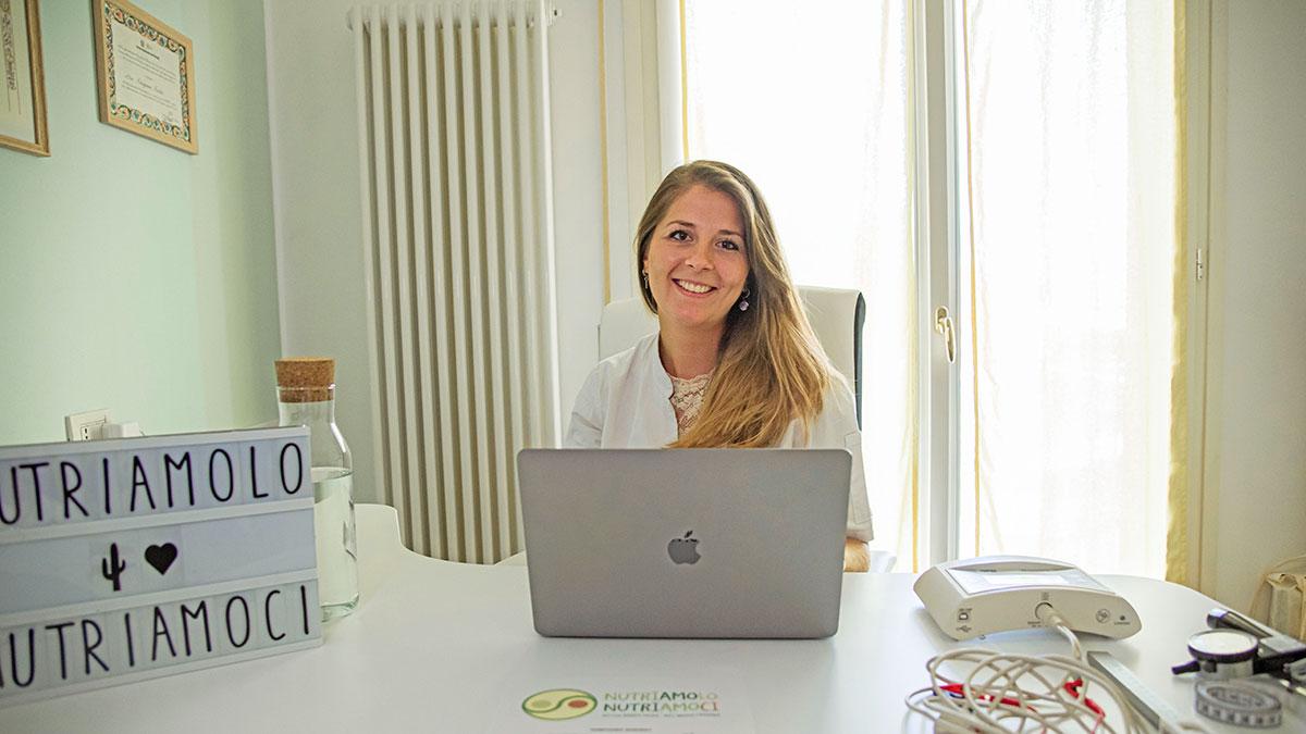 Federica Lollini in studio
